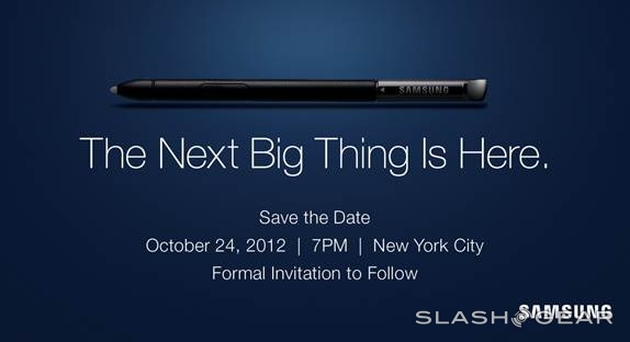Samsung teases Galaxy Note II event for October 24