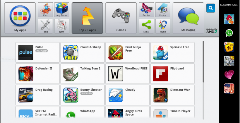 AMD AppZone Player puts Android apps on APU PCs