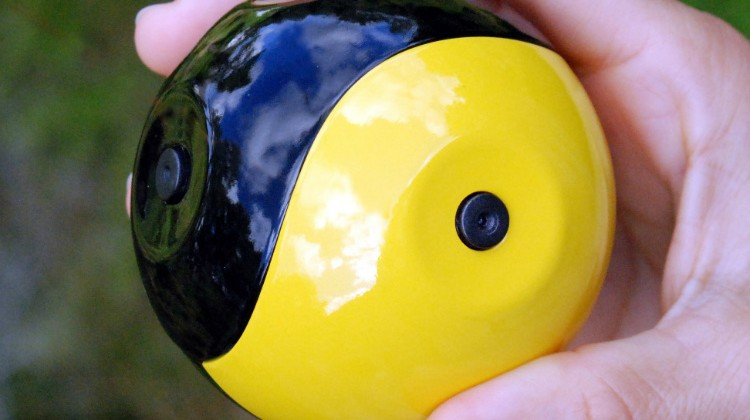 Throwable ball camera for fly-by video patented by inventor