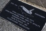 Space shuttle runway pocked with historical markers