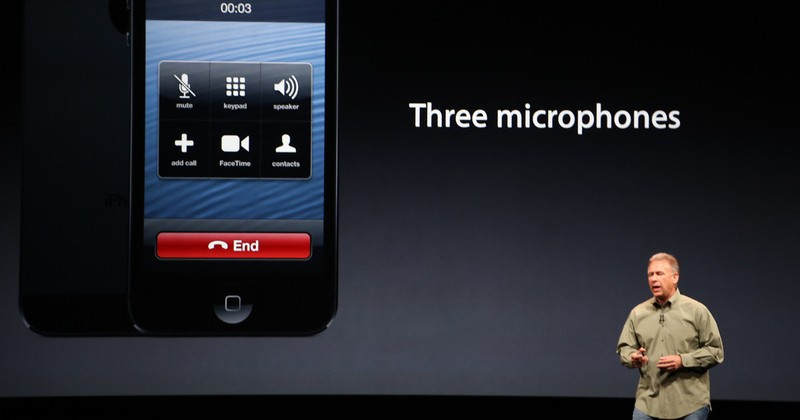 iPhone 5 comes equipped with three microphones