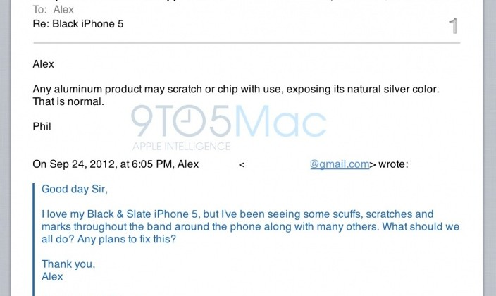 """Apple SVP: iPhone 5 scratches are """"normal"""" for aluminum products"""