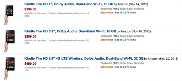 Kindle Fire HD tablets appear on sale at Amazon - SlashGear