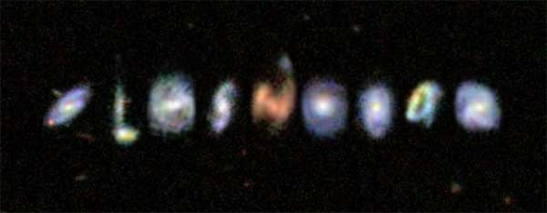 Galaxies come in all shapes of the alphabet