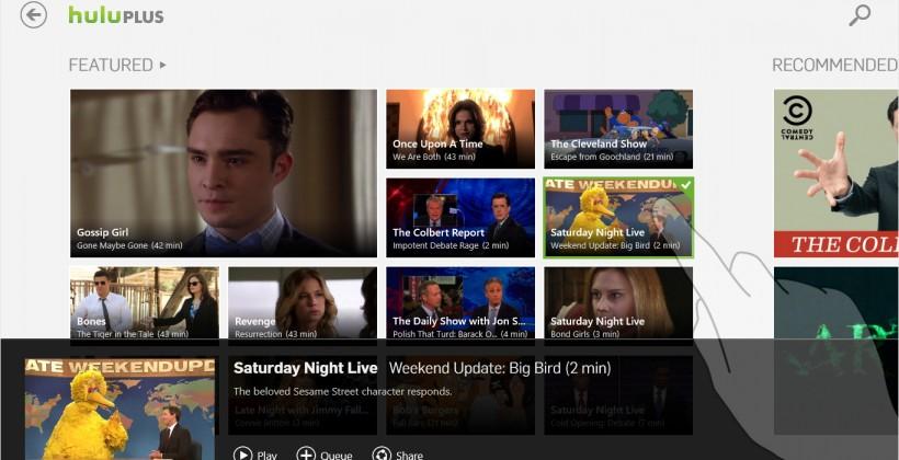 Hulu Plus app coming to Windows 8