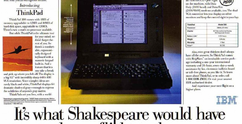 1992 ThinkPad 300 - Shakespeare