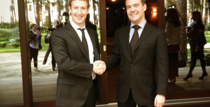 Zuckerberg visits Russia for Facebook talks