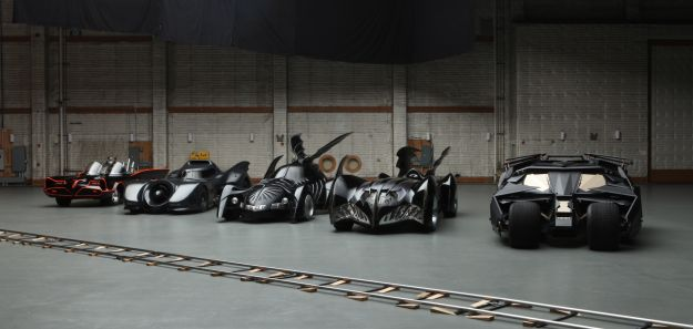 Batmobiles new and old hit the streets for Dark Knight Rises DVD release
