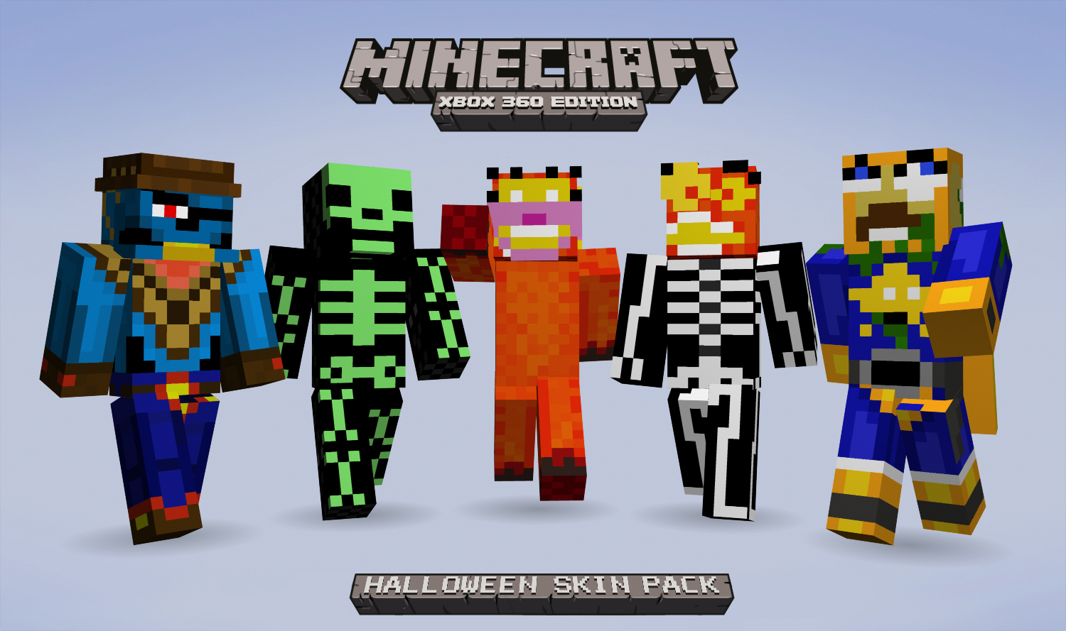 Minecraft Xbox 9 gets 9 Halloween skins, proceeds go to charity