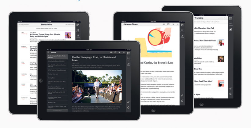 The New York Times launches HTML5 web app for iPad