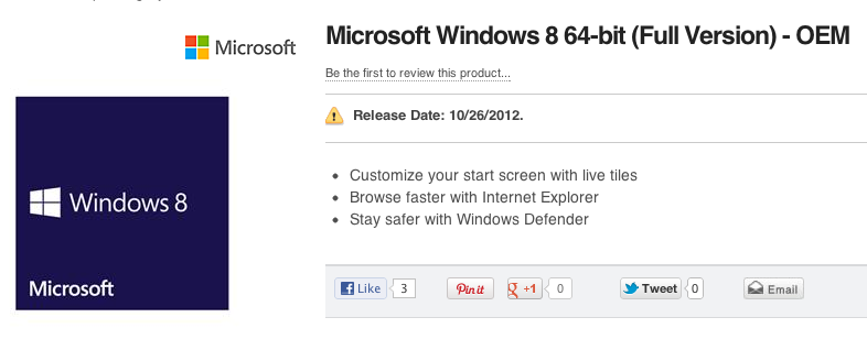 Windows 8 now available for pre-order