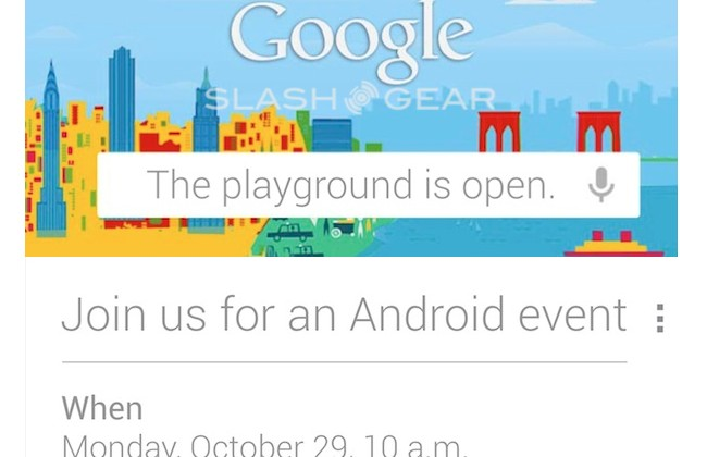 Google sends out invites to October 29 Android event