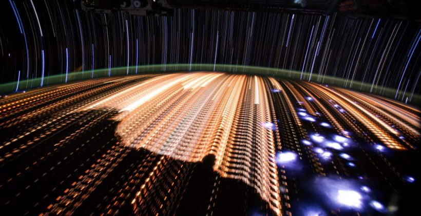 ISS Star Trails video sings space in beams of light