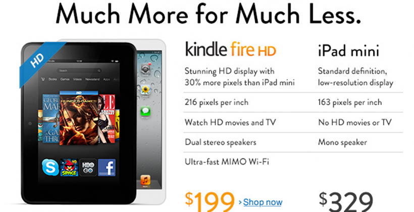 Amazon slams iPad mini in Kindle Fire HD attack ad