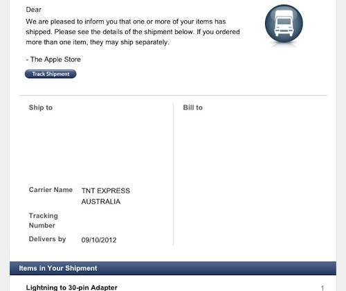 Apple Lightning Dock Connector begins shipping