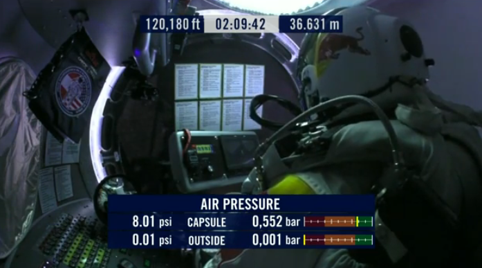 Red Bull Stratos supersonic skydive live: Felix is falling!