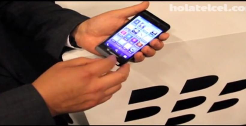 RIM's BlackBerry 10 L-Series smartphone caught in video demo
