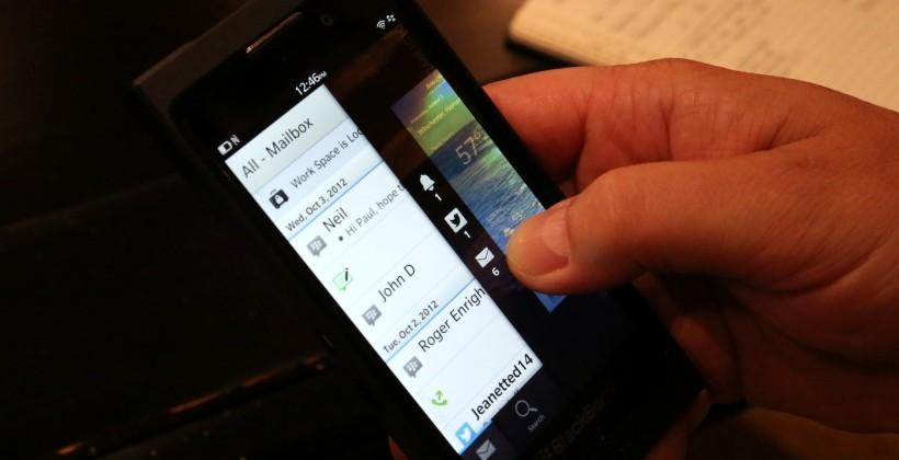 BlackBerry 10 Dev Alpha B phone teases full system
