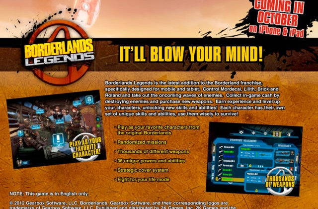 Borderlands Legends lands on iPhone and iPad later this month