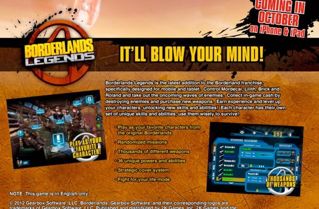 Borderlands Legends confirmed, out for iOS on October 31