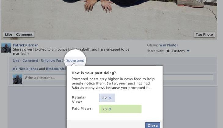 Facebook testing Promoted Posts for all users