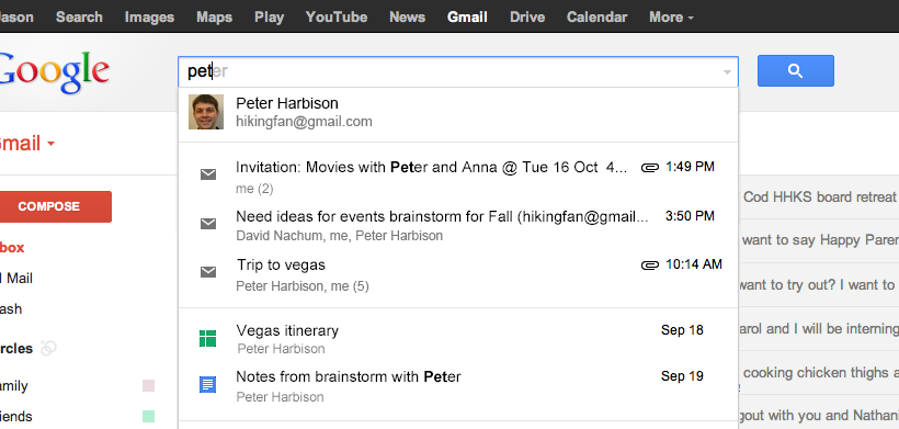 Google expands personalized results in Gmail and Search