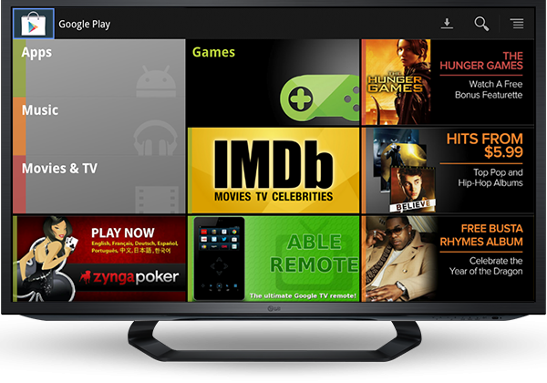 Google TV adding Google Play movies, TV shows, and music