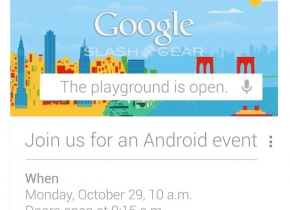 Google's Oct 29 Android details leak: LG Nexus 4, Jelly Bean v4.2, Nexus 7 3G & Nexus 10