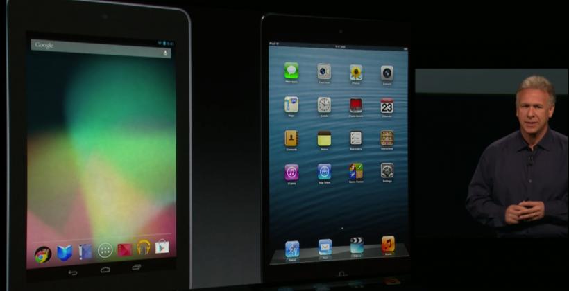 Apple compares the iPad mini to Google's Nexus 7