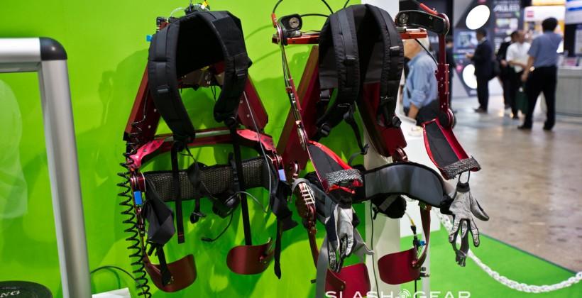 KOA Muscle Suit exoskeleton hands-on