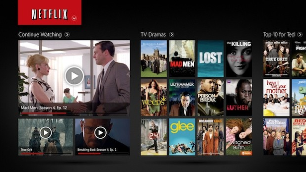 Netflix Windows 8 app download up now with touchy panels