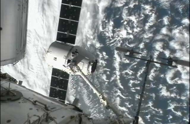 SpaceX Dragon fully docked with ISS
