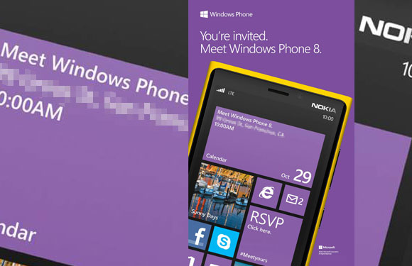 Windows Phone 8 launch event invites sent for October 29 with Nokia as hero
