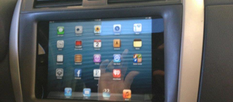iPad mini already installed into car dashboard