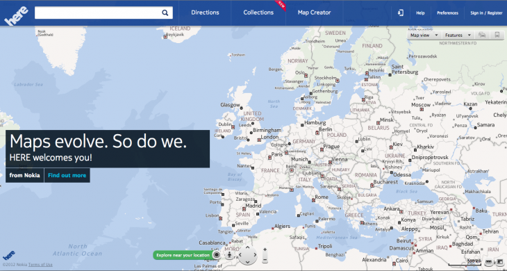 Nokia unveils HERE mapping service to take on Google Maps