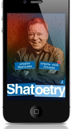 William Shatner launches new app called Shatoetry