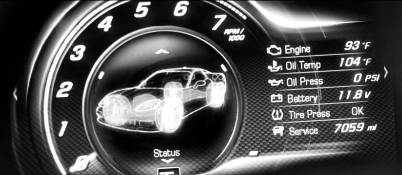 2014 Corvette trailer teases digital instrument panel