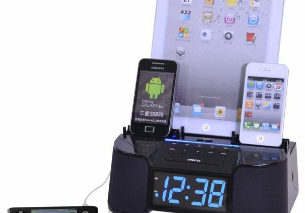 Easy-Dok CR34 alarm clock can charge six devices at once