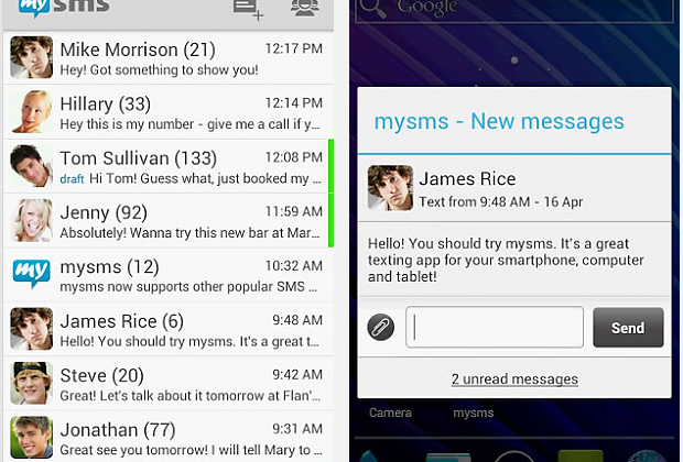 Evernote teams with mysms for text messaging storage