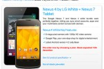 Nexus 4 shows up in white at TalkTalk