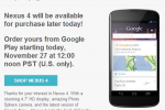 Nexus 4 Google Play Store availability returns this afternoon