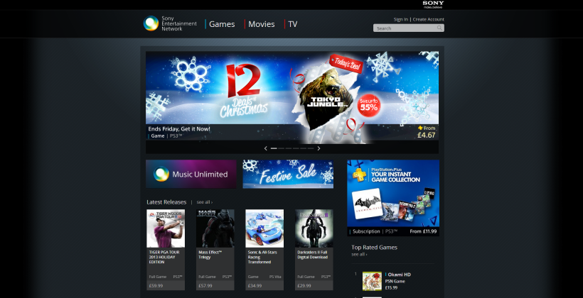 PlayStation Store hits the web under the radar