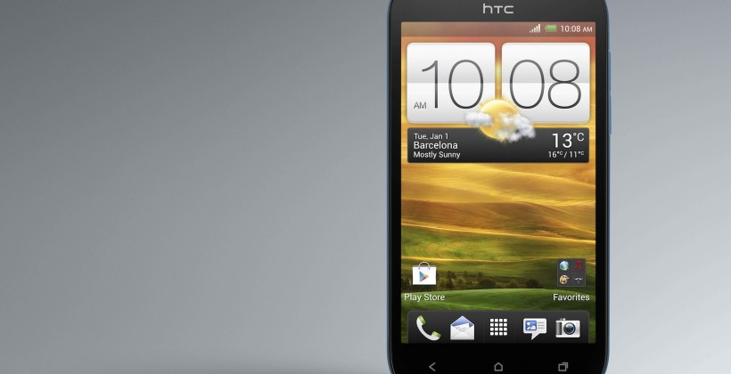 HTC One SV Front Pyrenees blue