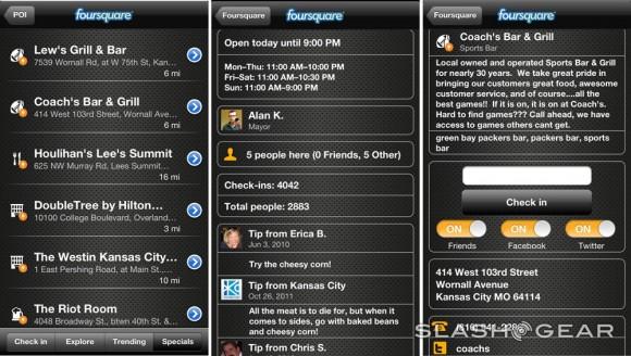 NAVIGON-Foursquare