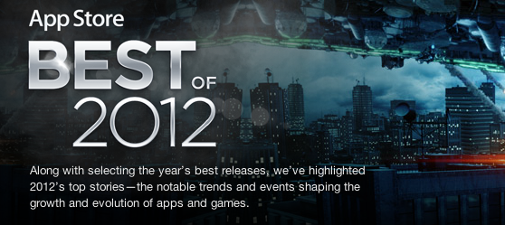 "Apple reveals ""Best of 2012"" in the iTunes App Store"