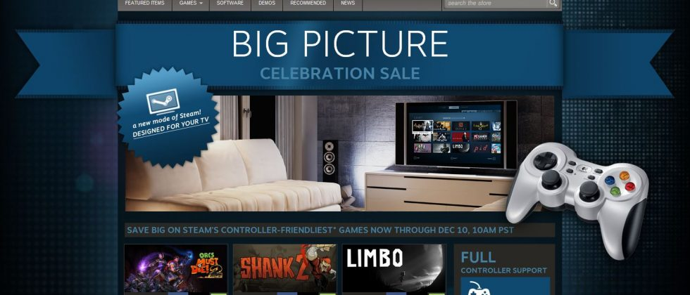 Steam Big Picture Mode officially launches, Valve celebrates with sale