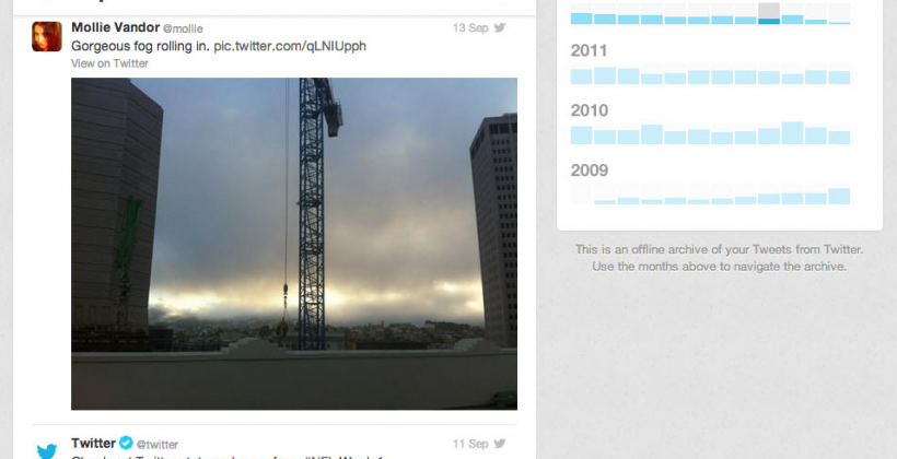 Twitter begins full Tweet archive download roll-out
