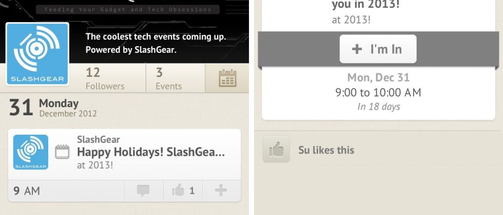 UpTo delivers SlashGear calendar to iOS and Android with gorgeous UI