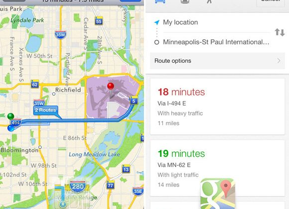 Google Maps vs Apple Maps hands-on to the airport - SlashGear on