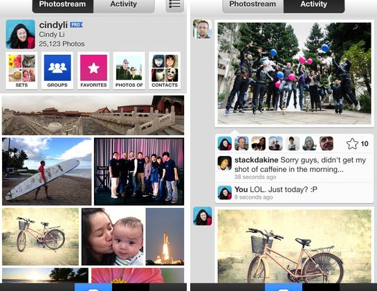 Flickr for iPhone app takes on Instagram